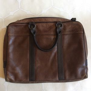 Leather Fossil Briefcase 💼 Brown